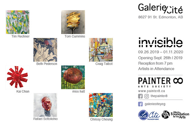 Invisible by PAINTER8 - art exhibition invitation