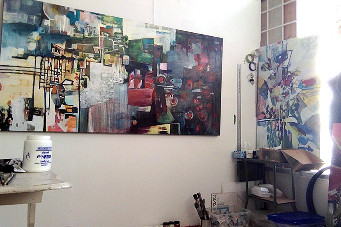 Chrissy Cheung's studio Vancouver- Painter8